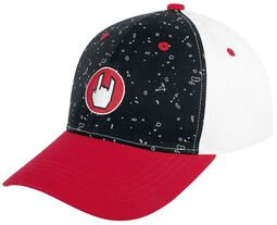 Black/Red/White Cap with Rockhand