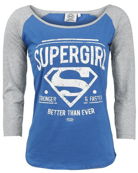Stronger & Faster Maglia a maniche lunghe 4 recensioni Tutti i prodotti: Supergirl