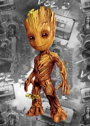 Displate (Baby Groot)