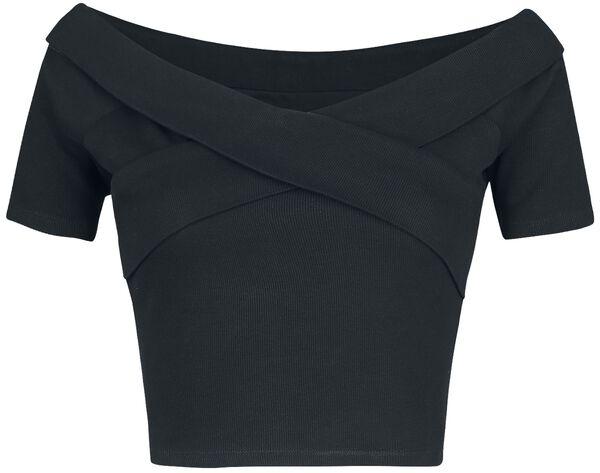 Ladies Off Shoulder Cross Rib Tee T-Shirt 1 Commento