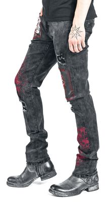 Jared - Black Jeans with Detailing