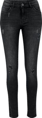 Ladies Ripped Denim Pants