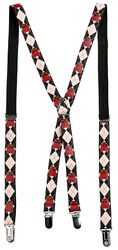Suspenders with Red Skulls
