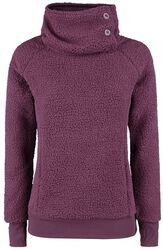 Ladies High Collar Fleece Sweater
