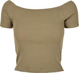 Ladies Off Shoulder Rib Tee