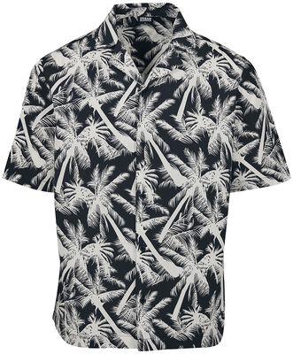 Pattern Resort Shirt White Palm