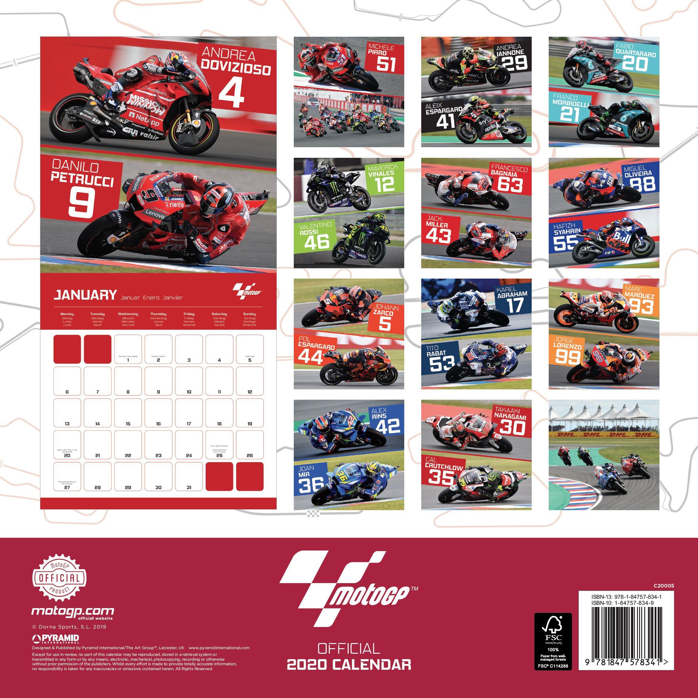 Calendario Capelli 2020.Moto Gp 2020