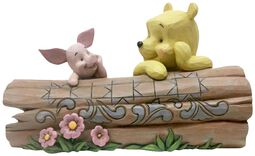 Pooh and Piglet on a Log Figurine