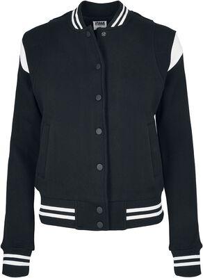 Ladies Organic Inset College Sweat Jacket