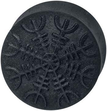 Helm of Awe on Black Wood