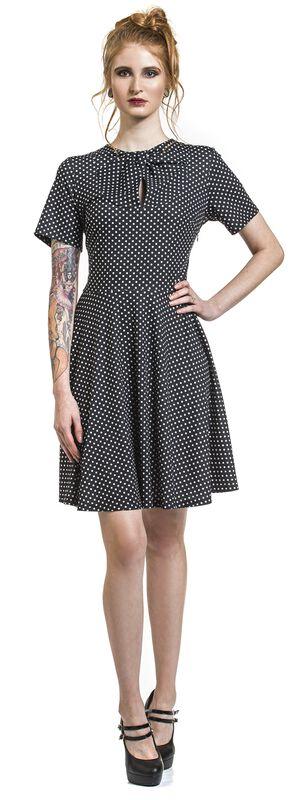 Black Bently Polka Dot Jersey Skater Dress