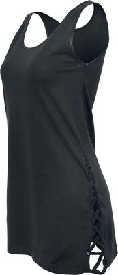 Ladies Imitation-Leather Side Knotted Tank