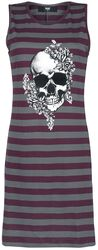 Striped Nightshirt with Skull Print