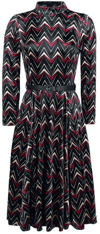 Chevron Velvet Swing Dress