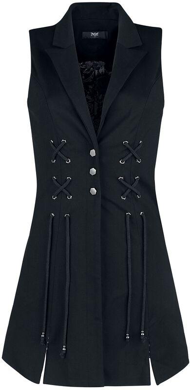 Black waistcoat with a flared hem