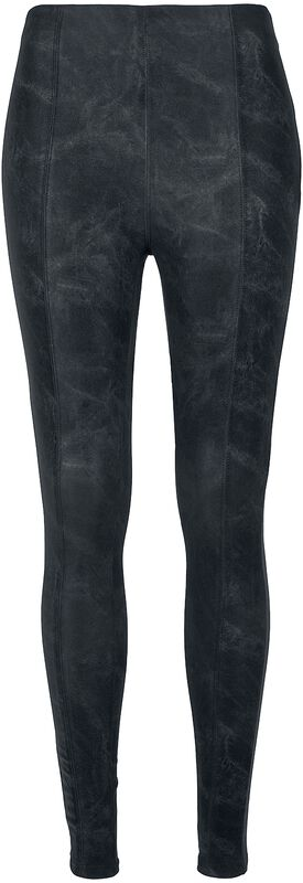 Ladies Washed Faux Leather Trousers