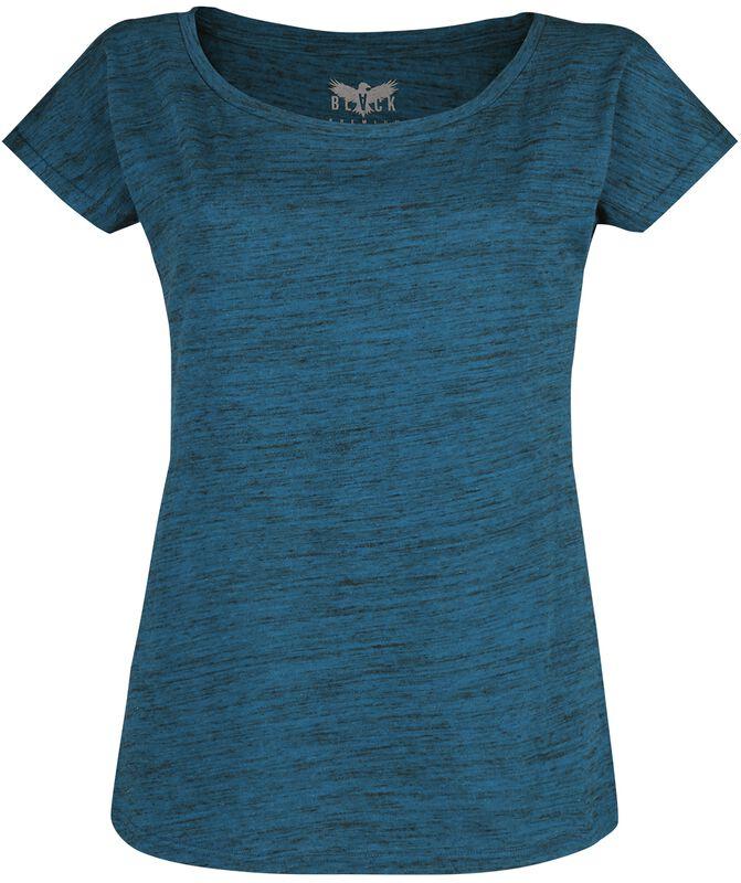 Mottled-Look Blue T-Shirt