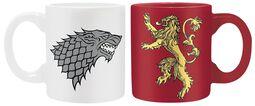 Set di tazzine da caffè Stark & Lannister