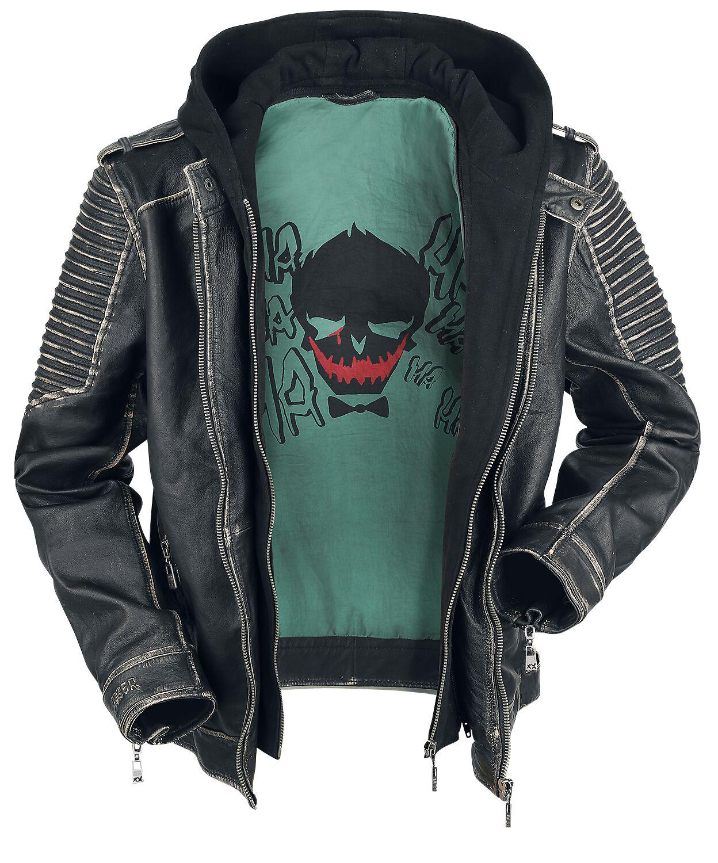 Suicide Squad Nuovo /'Il Uccisione Giacca' Joker Pelle Giacca
