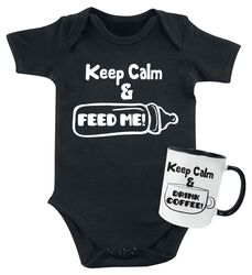 Keep Calm Baby Romper + Mug