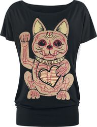 Black T-shirt with Print and Crew Neck
