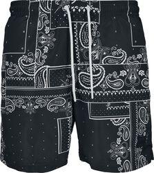 Pattern Swim Shorts - Bandana AOP