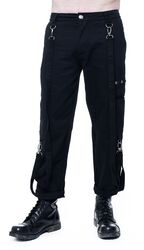 Three-Quarter Length Trousers With Removable Suspenders
