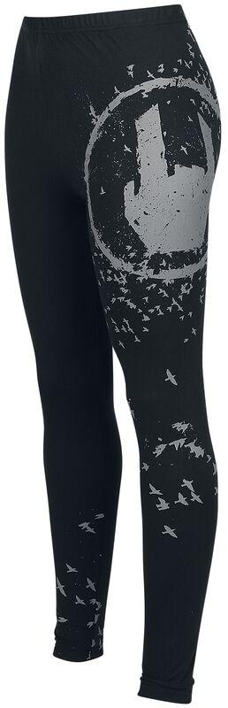 Black Leggings with Rockhand Print