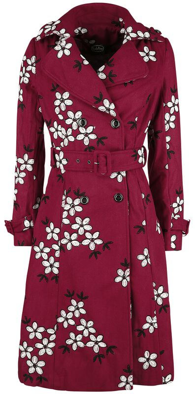 Marjorie Floral Trench Coat