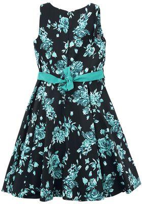Black Rosaceae Swing Dress