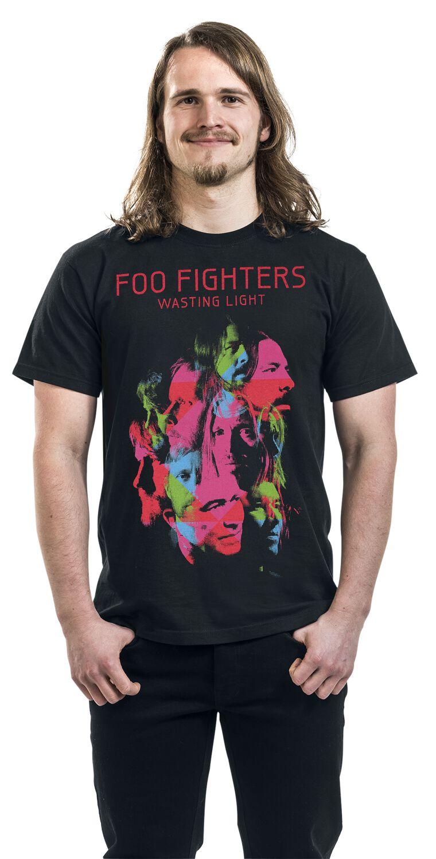 Foo Fighters T-Shirt Wasting Light da Uomo in Nero