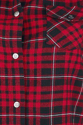 rot kariertes Hemd mit Jersey Ärmeln und offenen Saumkanten