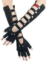 Long Fingerless Gloves With Studs