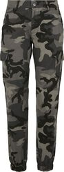 Ladies High Waist Camo Cargo Pants