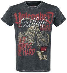 T-Shirt with Motorbike Print