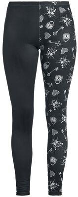 Black leggings with print