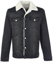 Jeans Jacket with Berber Fleece Lining