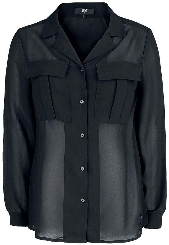 Black Premium Semi-Transparent Blouse