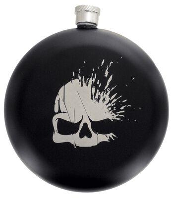 Skull Logo - Hip Flask