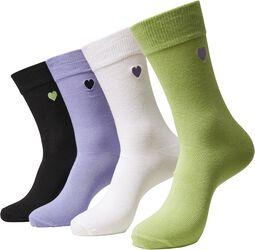 Heart Socks 4-Pack