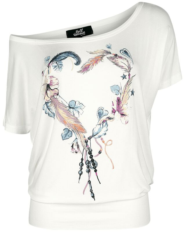 White T-shirt with Crew Neck and Print