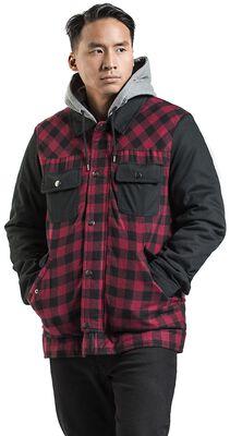 Black/Red Lumberjack Jacket with Black Sleeves