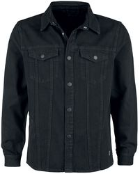 Denim Shirt Jacket Keep Black