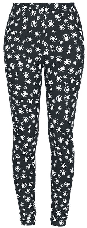 Black Leggings with Rockhand All-over Print