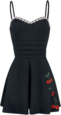 Ariel Cherry Embroidery Playsuit