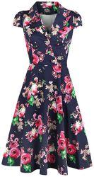 Midnight Garden Floral Tea Dress