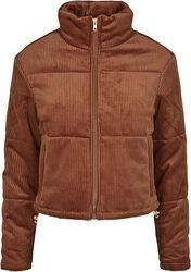 Ladies Corduroy Puffer Jacket