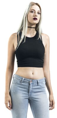 Ladies Cropped Rib Top