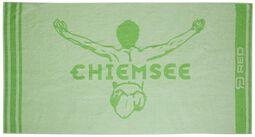 RED X CHIEMSEE - grünes Handtuch mit Logoprint