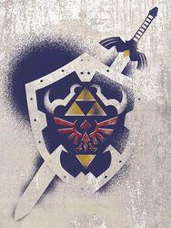 Hylian Shield Stencil